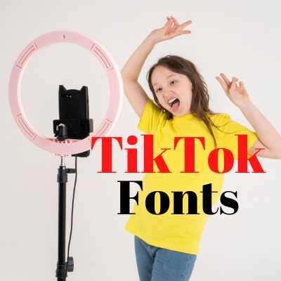 tiktok fonts